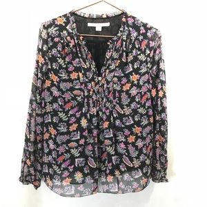 DVF Diane Von Furstenburg Annalise Silk Top